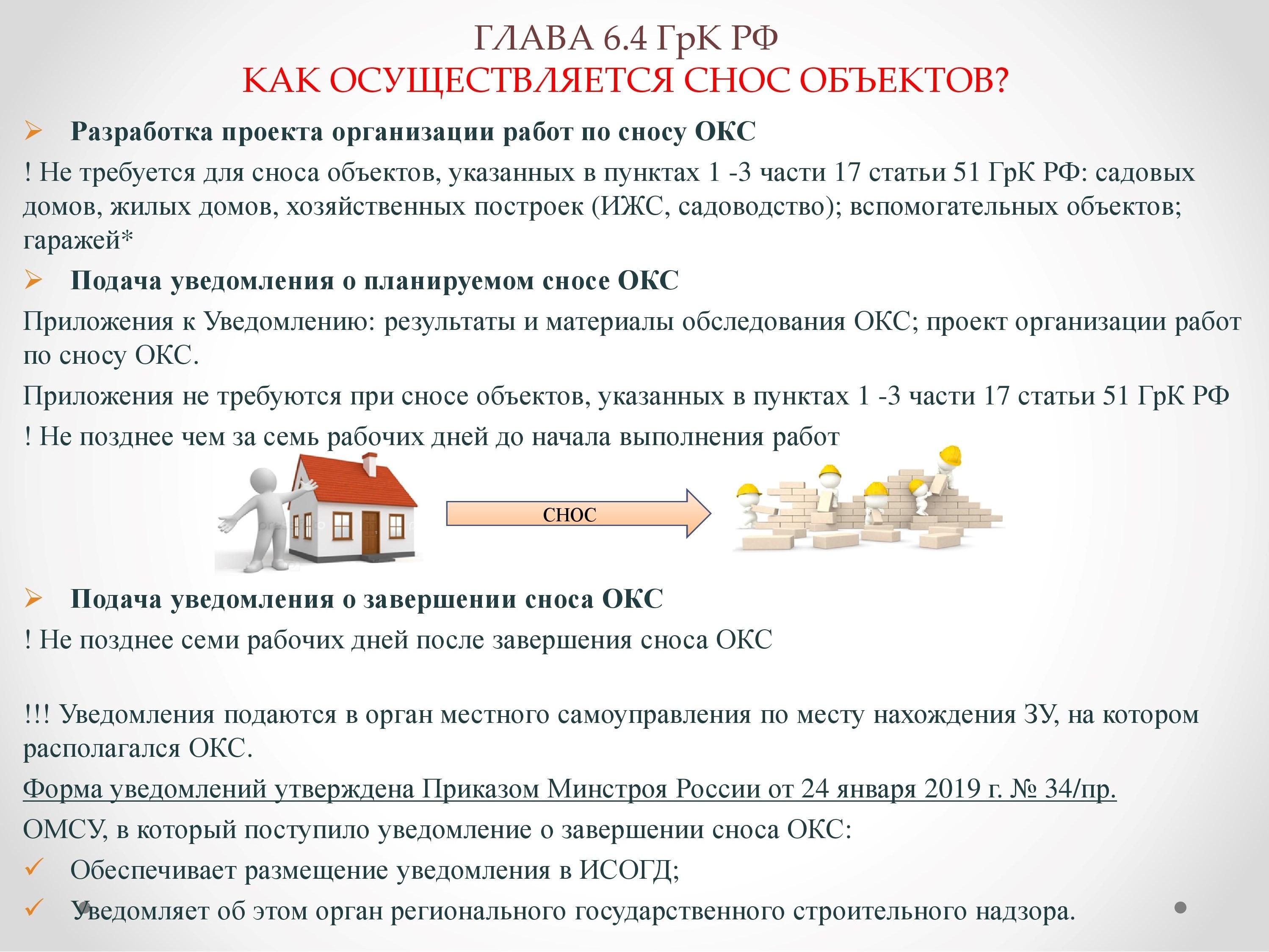 акт о сносе объекта недвижимости
